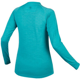 Endura BaaBaa Blend Sous-maillot à manches longues Femme, Bleu pétrole